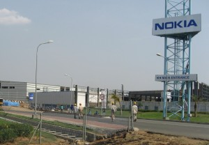 the Nokia factory