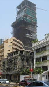 The tower rises above Peddar Road April 2009
