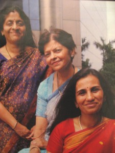 Chanda Kochhar (bottom), Kalpana Morparia (middle) and Lalita Gupte, now retired, in a Fortune magazine article October 19, 2006. Photograph by Pablo Bartholomew