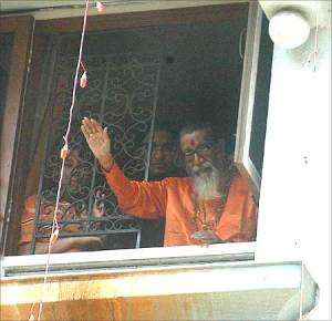 Bal Thackeray on his 82nd birthday, Jan 22, 2008 - photo by Arun Patil