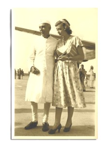 Nehru with Pamela Mountbatten as she was about to leave India in June 1948