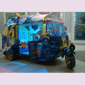 Autorickshaw installationby Rajarshi Smart