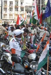 Motorbikes ready for the Congress motorcade