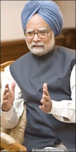 Manmohan Singh during the interview