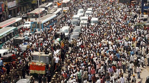 tens of thousands thronged the streets for the funeral procession