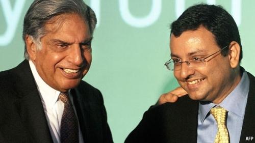 Ratan Tata and his successor, Cyrus Mistry