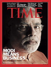 "cover story March 26, 2012 ""Modi Means Business but can he lead India"""