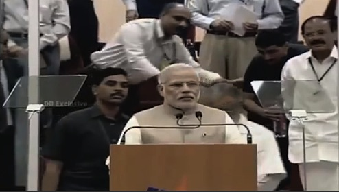 Modi English teleprompter - June 30 '14