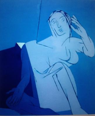 Tyeb BluePainting Sotheby's London Oct '14