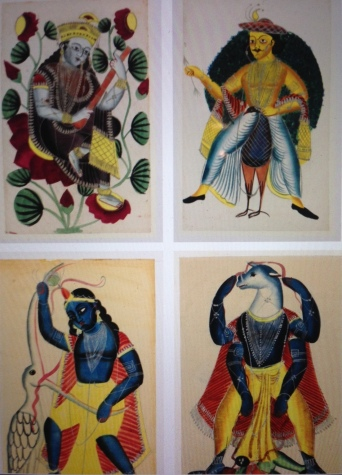 Set of four Kalighats