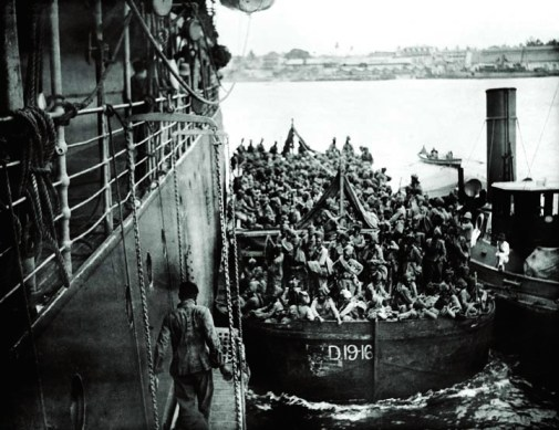 troops boarding a ship in Dar-es-Salaam - the cover of Vedica Kant's book