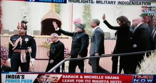 Modi Obamas leave parade