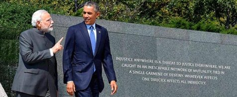 Obama Modi MLK