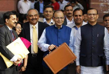 Arun Jaitley and his finance ministry team