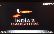 Banned from showing the film on March 8, NDTV broadcast this screen for an hour from 9pm to 10pm with objectors' comments running across the bottom