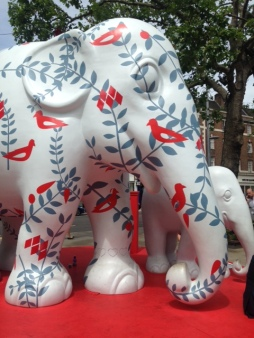 This 10ft high model of an elephant, symbolising Tara, was also auctioned for £42,000