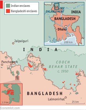 India-Bangla map
