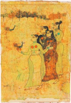 Gaitonde watercolour and ink