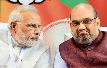 Narendra Modi (left) and Amit Shah