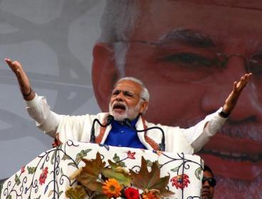 Narendra Modi in Kashmir recently