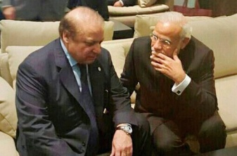 Modi-Sharif-Paris climate talks - Nov 30 '15 PTI