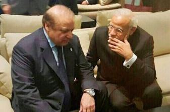 Modi-Sharif-Paris climate talks - Nov 30 '15 PTI