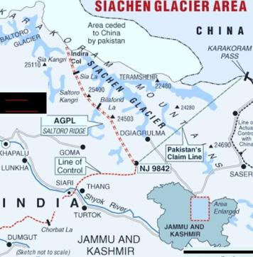 Siachen-map