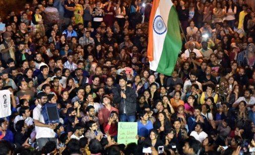 JNUSU President Kanhaiya Kumar at JNU
