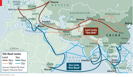 OBOR map - The Economist