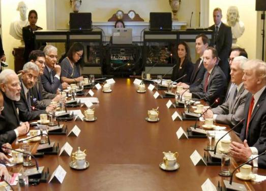 Modi Trump delegation meeting