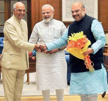 Ram Nath Govind + ModiShah