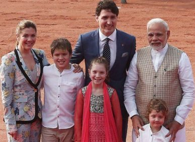 Justin-Trudeau-family-with-narendra-modif-701x467