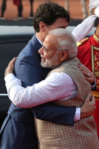 Modi-and-Trudeau hug