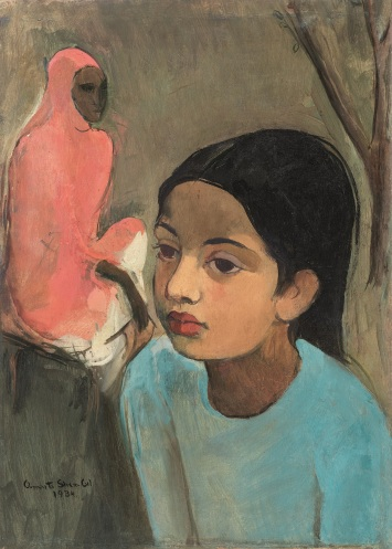 Lot 12, Sher-Gil, The Little Girl in Blue (1934), INR 8,50,00,000-12,50,00,000